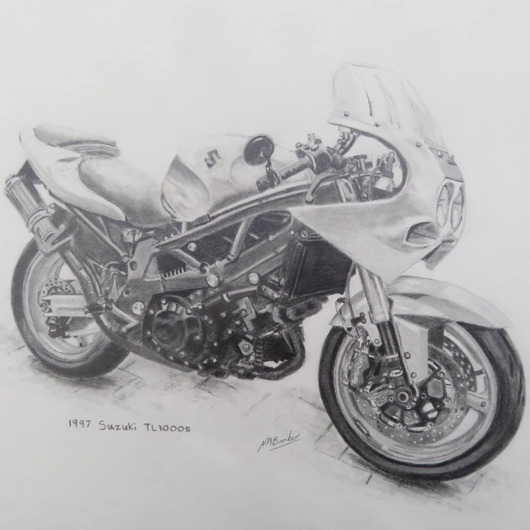 Gary Roberts's 1997 Suzuki TL1040 SV Special - Signed Prints - £50
