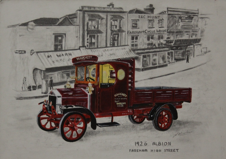 1926 Albion Lucketts - Acrylic inks and Pencil £Sold