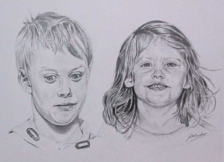 Commission - The Children - Graphite