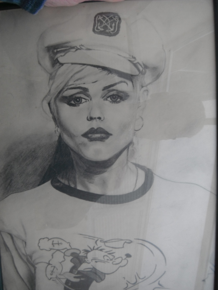 Debbie Harry (Blondie) Signed - Graphite - Framed Original - £200