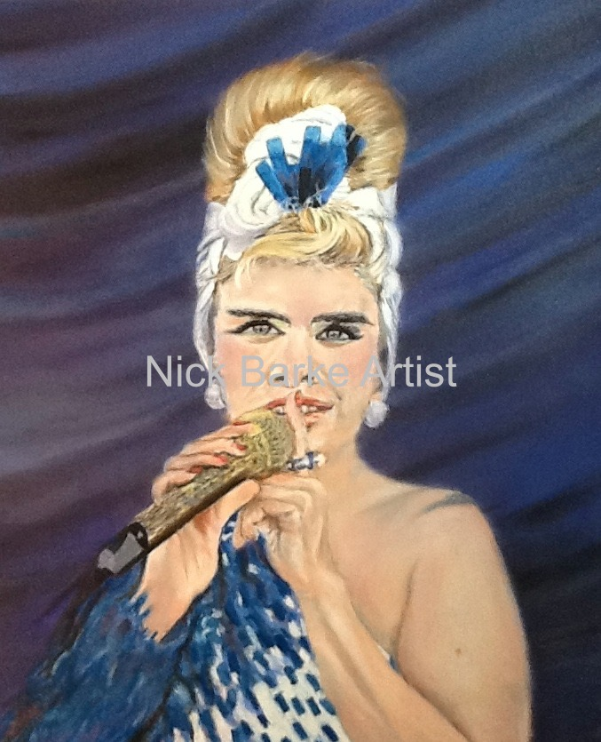 Paloma Faith - Pastel on Velour - Unframed - £275