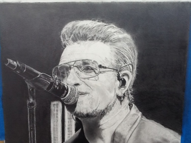 Bono - Graphite Pencil - unframed - £200