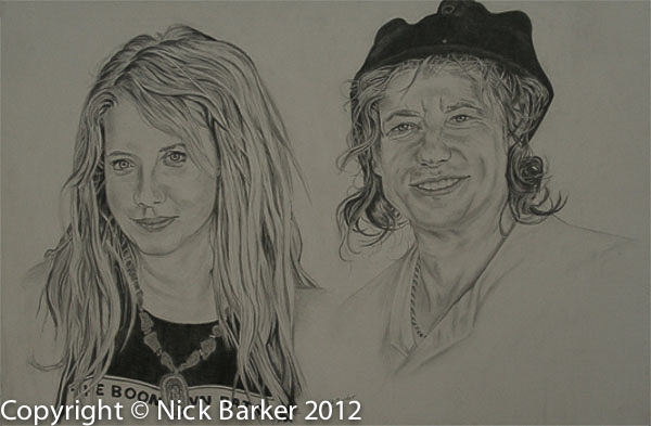Bob and Peaches - Graphite - £Sold