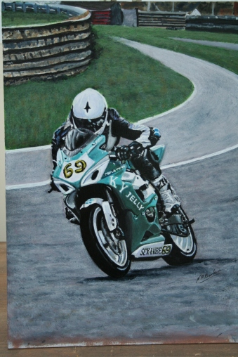 Reaper at Thruxton - Acrylic £Sold