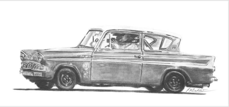 Ford Angila- Graphite Pencil - Framed Original - £175