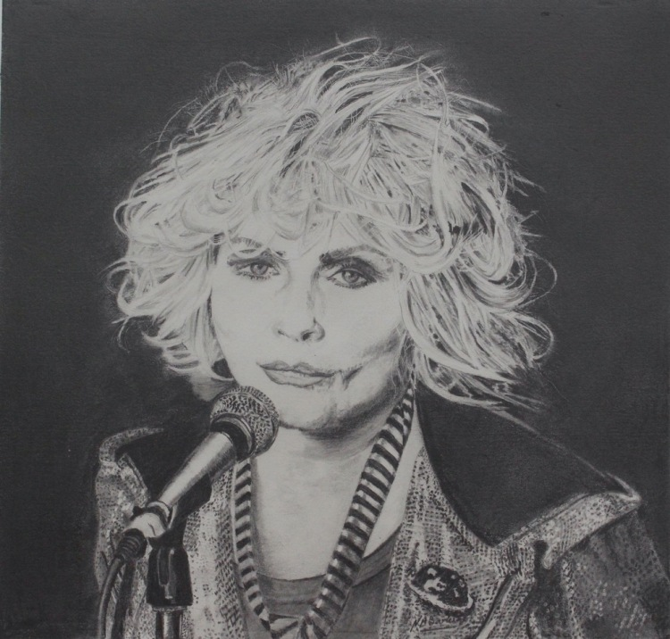 Debbie Harry - Graphite - 30x30cm -Unframed Original - £300