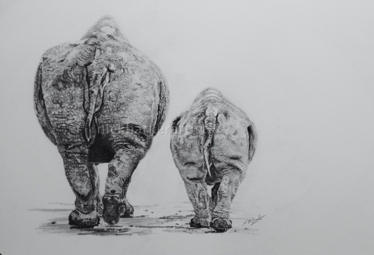 The Walk to Extinction - Graphite - £Sold