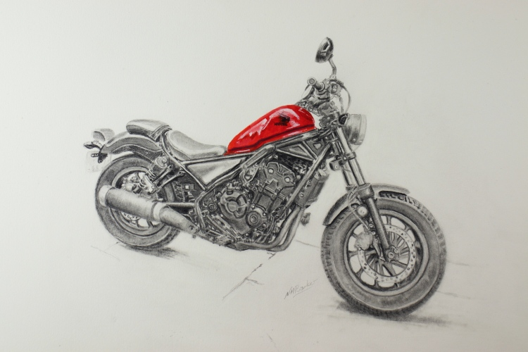 Honda Rebel 500 - Graphite and Acrylic - SOLD