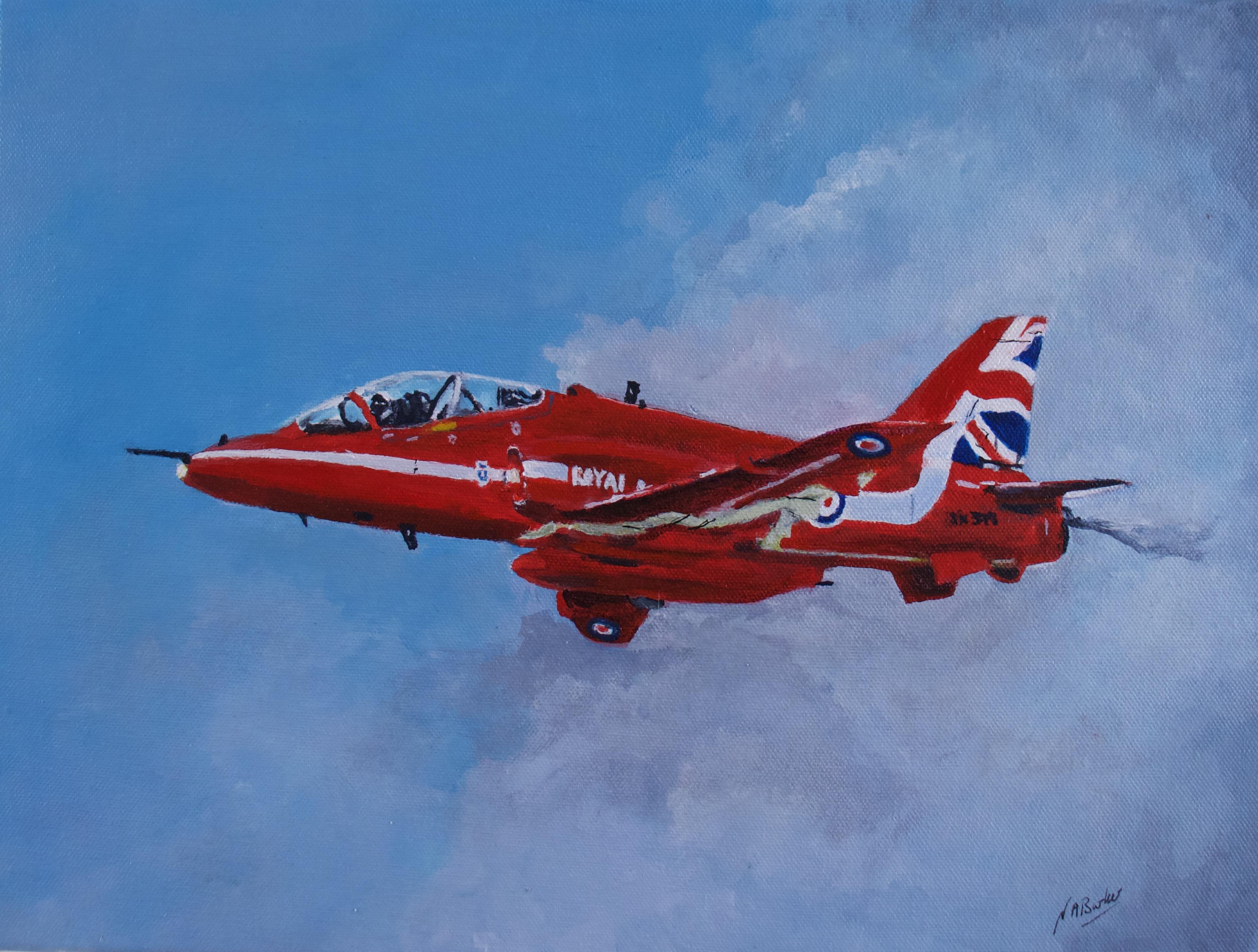 Red Arrow - Acrylic on Canvas - 30x40cm unframed - £175